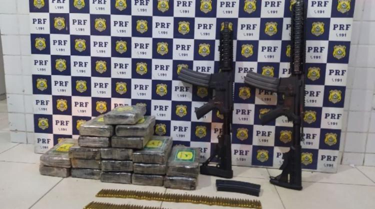 Material estava escondido em compartimento de carro | Foto: Divulgação | PRF - Foto: Divulgação | PRF