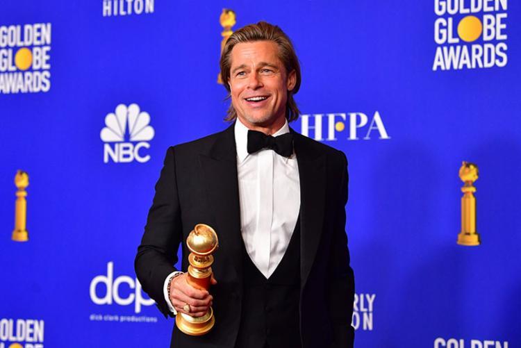 Brad Pitt recebeu o prêmio de melhor ator coadjuvante | Foto: Frederic J. Brown | AFP - Foto: Frederic J. Brown | AFP