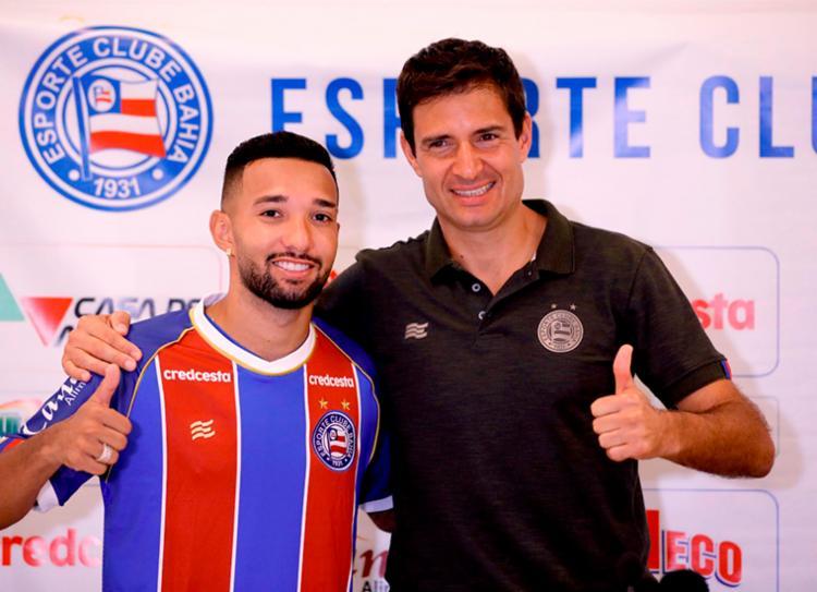 Clayson chega ao Tricolor com a missão de substituir Artur Victor | Foto: Felipe Oliveira | EC Bahia - Foto: Felipe Oliveira | EC Bahia