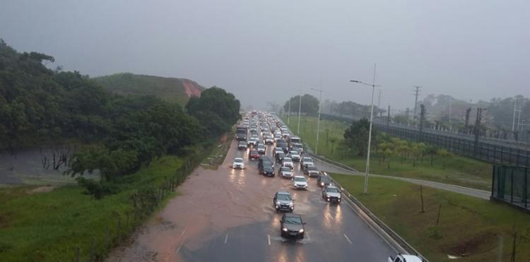 Chuva causou alagamento em diversos pontos de Salvador | Foto: Shirley Stolze | Ag A TARDE - Foto: Shirley Stolze | Ag A TARDE