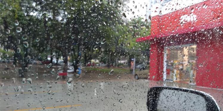 Os maiores acumulados de chuvas no intervalo de uma hora, medidos às 11h40 desta quarta, quando as chuvas se intensificaram | Foto: Cidadão Repórter - Foto: Cidadão Repórter