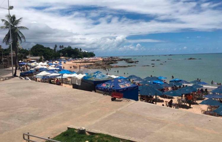 O crime contra uma turista de 19 aconteceu na praia de Itapuã   Foto: Reprodução - Foto: Reprodução