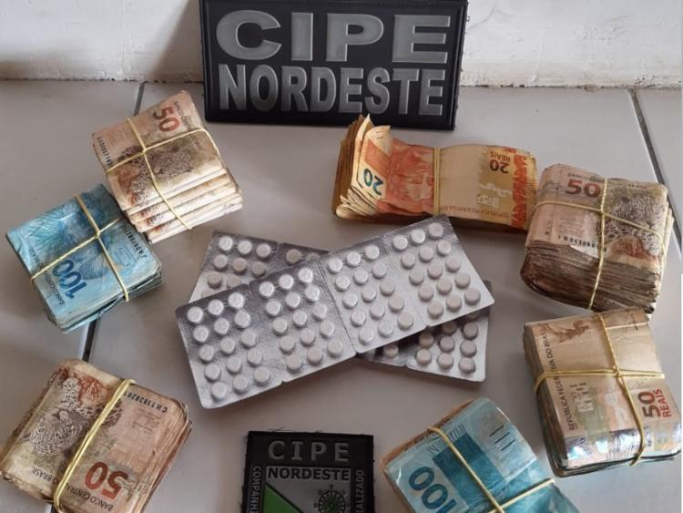 Suspeito não soube explicar origem do dinheiro | Foto: Divulgação | SSP - Foto: Divulgação | SSP