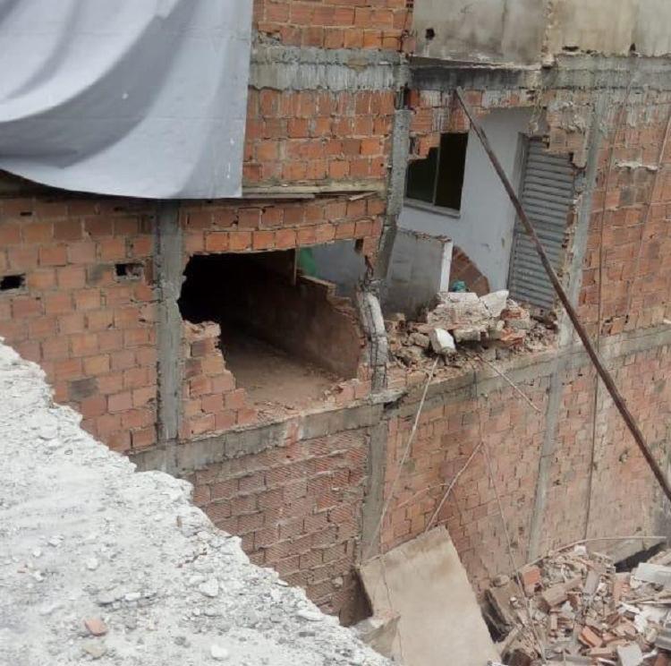 Os moradores foram evacuados de suas residências | Foto: Divulgação | Codesal - Foto: Divulgação | Codesal