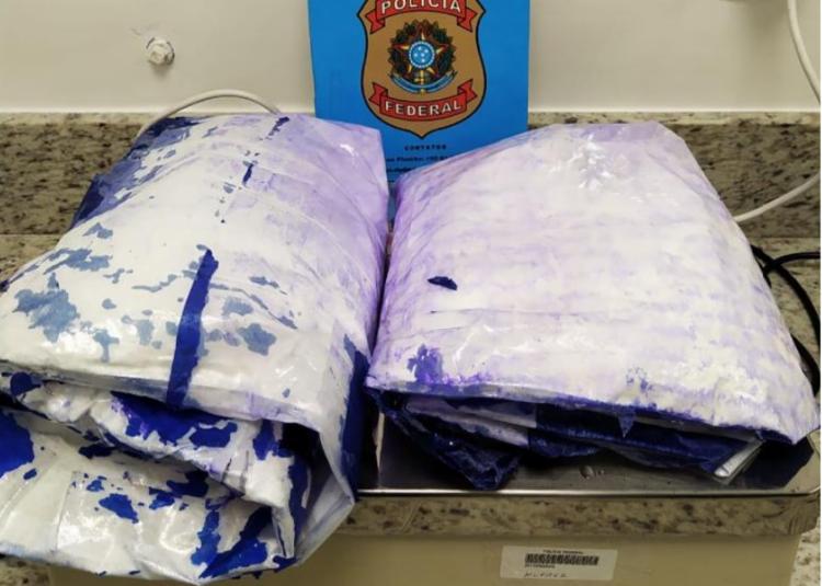 A droga estava escondida no forro das malas | Foto: Divulgação | Polícia Federal - Foto: Divulgação | Polícia Federal
