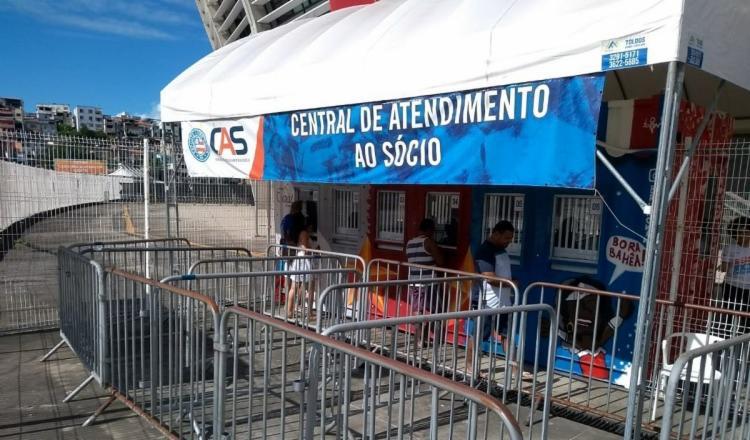 A Central de Atendimento ao Sócio (CAS) fica na Arena Fonte Nova, ao lado da loja do clube   Reprodução   Redes Sociais - Foto: Reprodução   Redes Sociais