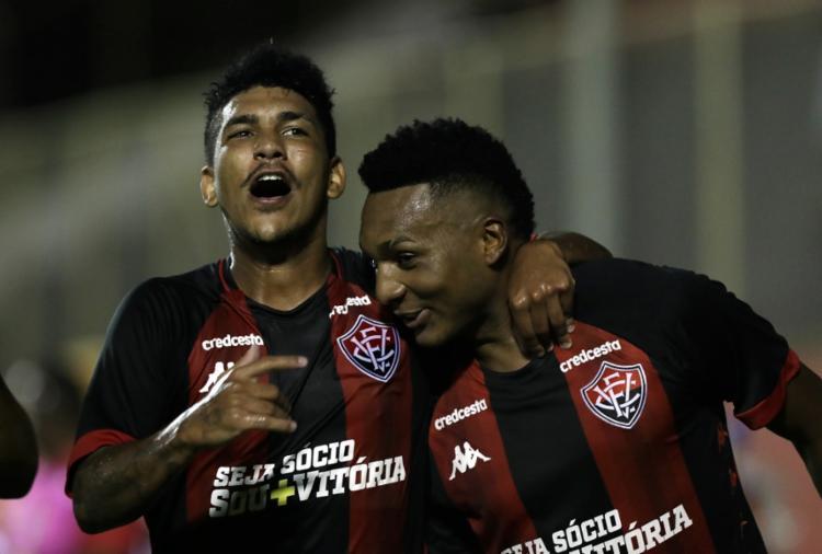 Atacante Eron marcou um dos gols do empate do Vitória com a Juazeirense no Barradão | Uendel Galter | Ag. A TARDE