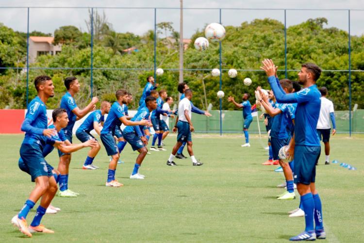 Elenco de transição segue a preparação para o Campeonato Baiano no CT Evaristo de Macedo | Foto: Felipe Oliveira | EC Bahia