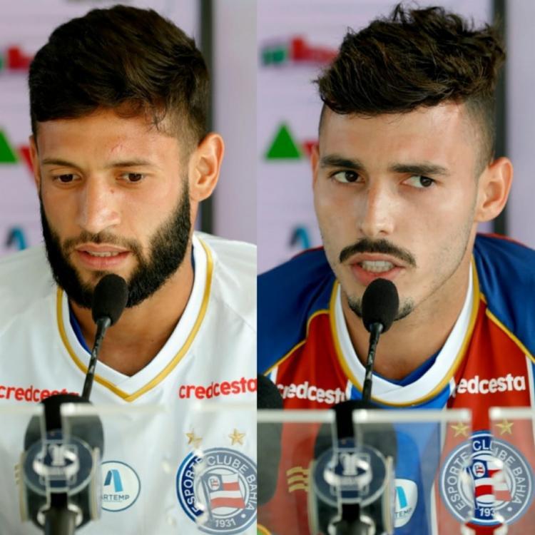 Zeca e Juninho Capixaba assinaram com o Tricolor até o fim de 2020 | Foto: Felipe Oliveira | EC Bahia - Foto: Felipe Oliveira | EC Bahia
