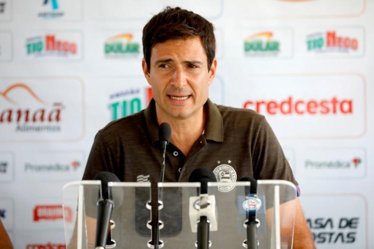 Diretor espera anunciar os reforços nos próximos dias   Felipe Oliveira   EC Bahia - Foto: Felipe Oliveira   EC Bahia