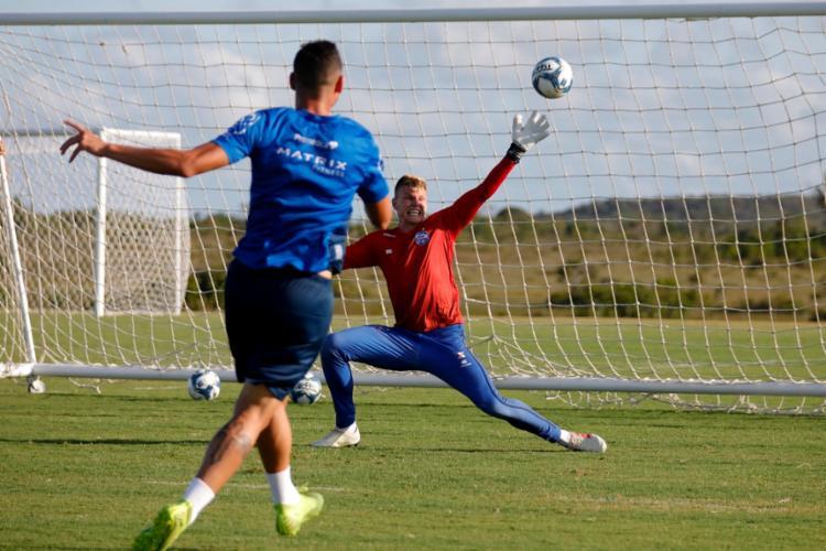 Os atletas ainda fizeram um trabalho de ataque contra defesa   Foto: Felipe Oliveira   EC Bahia - Foto: Felipe Oliveira   EC Bahia