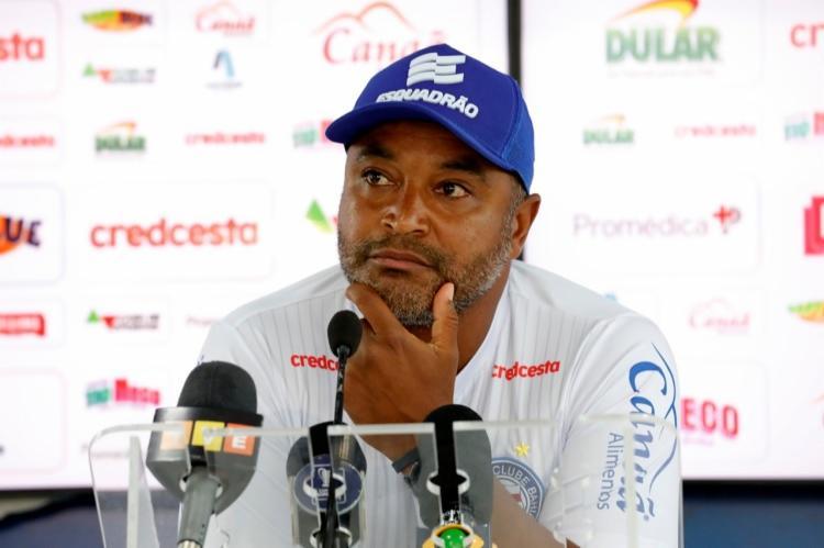 O treinador afirmou já ter analisado o Santa Cruz, primeiro adversário do Tricolor no ano | Foto: Felipe Oliveira | EC Bahia - Foto: Felipe Oliveira | EC Bahia