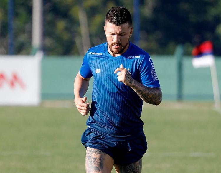 O atacante foi anunciado oficialmente nesta terça-feira, 14 | Foto: Felipe Oliveira | EC Bahia - Foto: Felipe Oliveira | EC Bahia