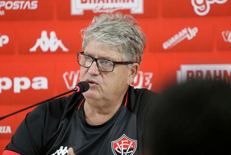Treinador também ficou feliz por ter uma semana de preparação para a próxima partida | Luciano da Matta | Ag. A TARDE - Foto: Luciano da Matta | Ag. A TARDE