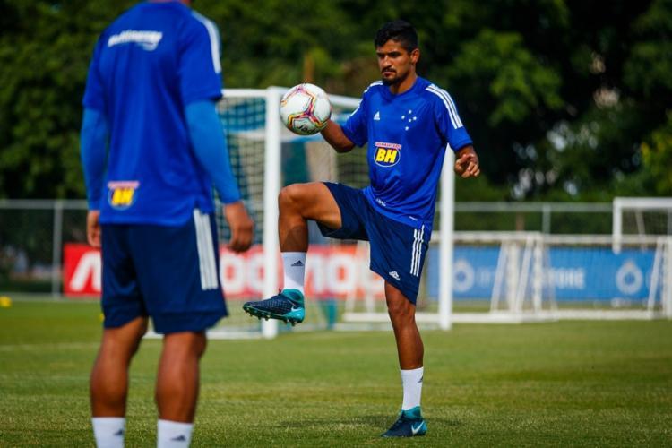 O atleta chegou à capital mineira na semana passada e já estava treinando com os demais companheiros   Foto: Alexandre Silva   Cruzeiro - Foto: Alexandre Silva   Cruzeiro