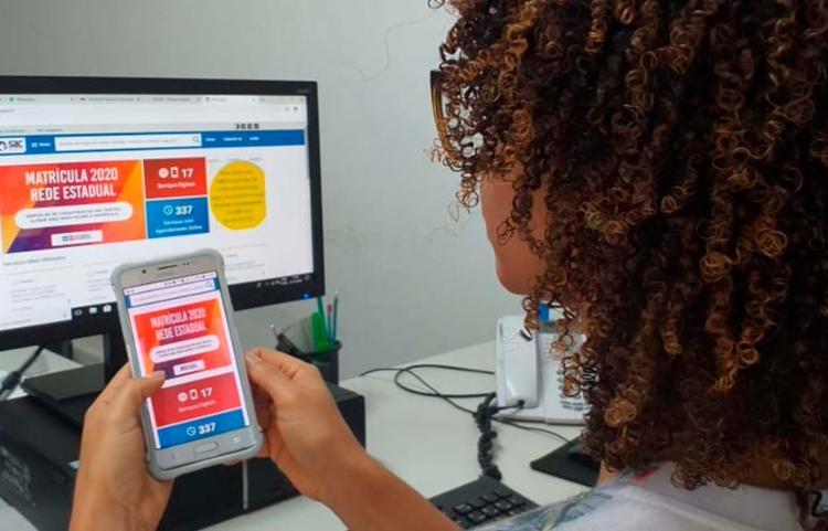 Novidade deste ano é a realização da matrícula 100% online   Foto: Cláudia Oliveira   ASCOM   SEC - Foto: Cláudia Oliveira   ASCOM   SEC