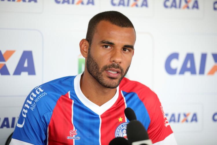 Jogador de 31 anos vestiu a camisa do Bahia em 27 vezes | Felipe Oliveira | EC Bahia - Foto: Felipe Oliveira | EC Bahia