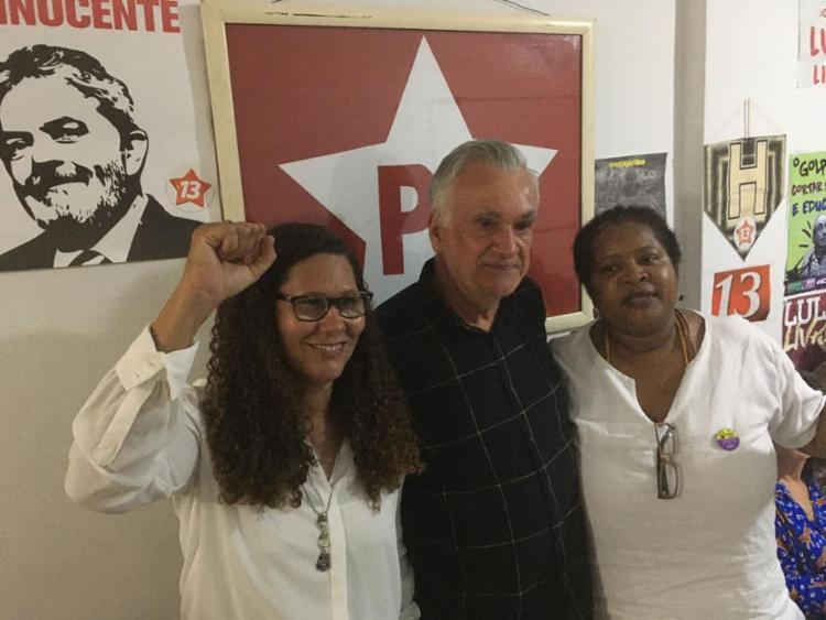 Juca Ferreira e Vilma Reis (à direita) defendem abertamente realização de prévias / Foto: Yuri Silva | Ascom - Foto: Yuri Silva | Ascom | 6.1.2020