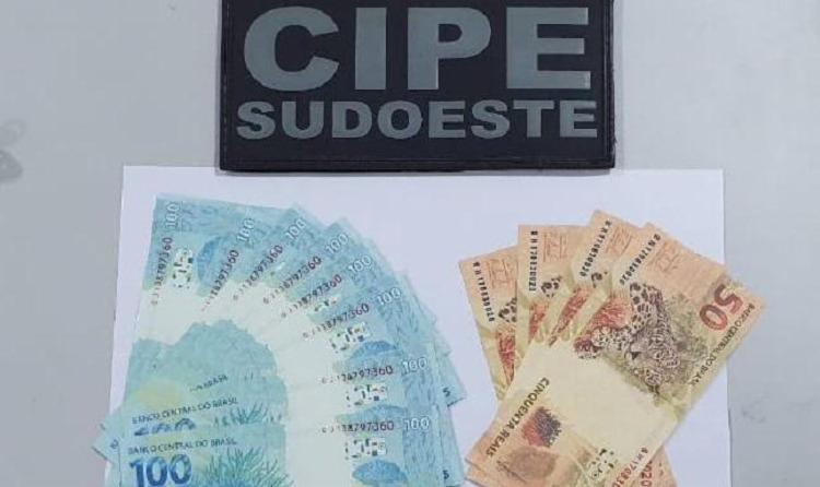 O acusado por estelionato confessou já ter movimentado mais de R$ 20 mil em cédulas falsas em Botuporã e cidades vizinhas | Foto: Divulgação | SSP - Foto: Divulgação | SSP
