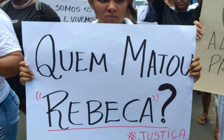Manifestantes pediram justiça após o assassinato   Foto: Paulo José   Acorda Cidade - Foto: Paulo José   Acorda Cidade