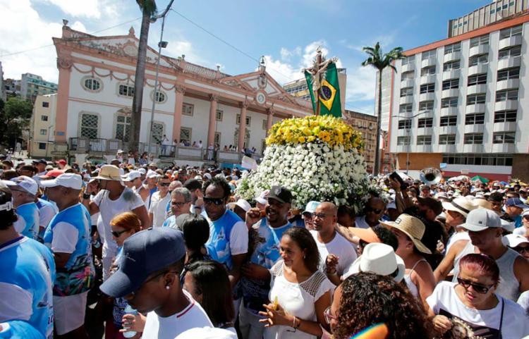 Festejo é um grande símbolo do sincretismo religioso na Bahia   Foto: Raul Spinassé   Ag. A TARDE - Foto: Raul Spinassé   Ag. A TARDE
