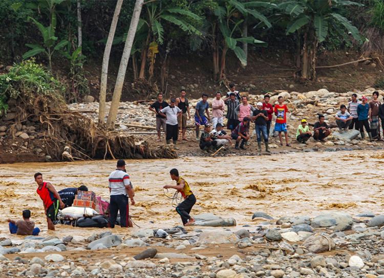 Chuvas provocaram deslizamentos de terra e inundações em muitos bairros | Foto: Sammy | AFP - Foto: Sammy | AFP