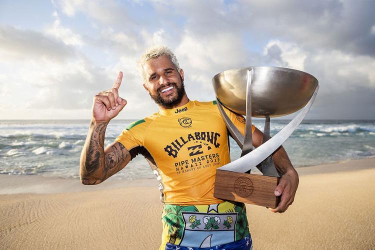O surfista potiguar foi indicado após conquistar pela primeira vez o título do Circuito Mundial de Surfe   Foto: Kelly Cestari   WSL - Foto: Kelly Cestari   WSL