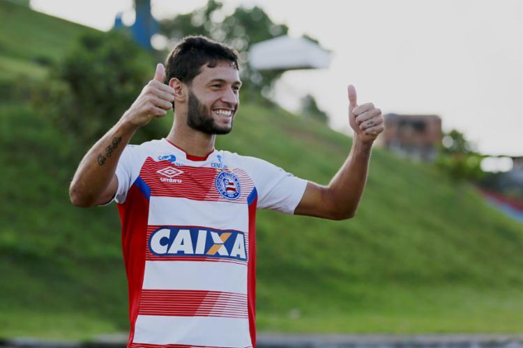Essa é a segunda passagem do jogador pelo clube | Foto: Felipe Oliveira | EC Bahia | 31.8.2017 - Foto: Felipe Oliveira | EC Bahia | 31.8.2017