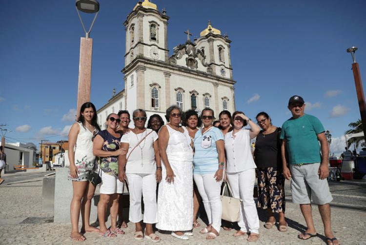 Grupo de 58 devotos chegou de Recife   Foto: Uendel Galter   Ag. A TARDE - Foto: Uendel Galter   Ag. A TARDE