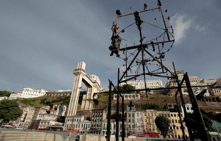 Monumento sofreu um incêndio no último dia 21 | Foto: Uendel Galter | Ag. A TARDE - Foto: Uendel Galter | Ag. A TARDE