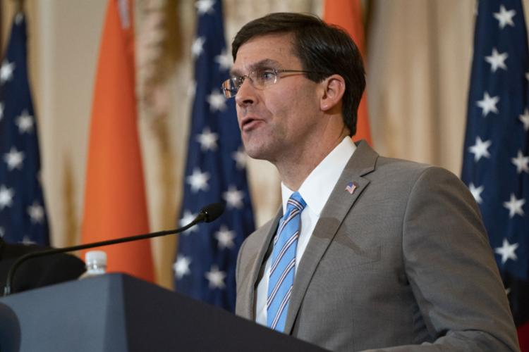 Mark Esper. secretário de Defesa americano | Foto: Alex Edelman | AFP - Foto: Alex Edelman | AFP