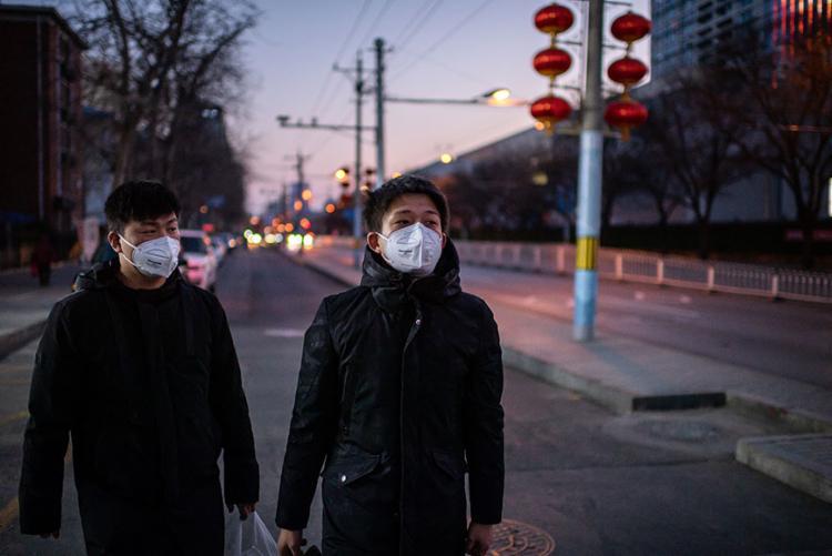 Os chineses desertaram de lojas e locais públicos | Foto: Nicolas Asfouri | AFP - Foto: Nicolas Asfouri | AFP