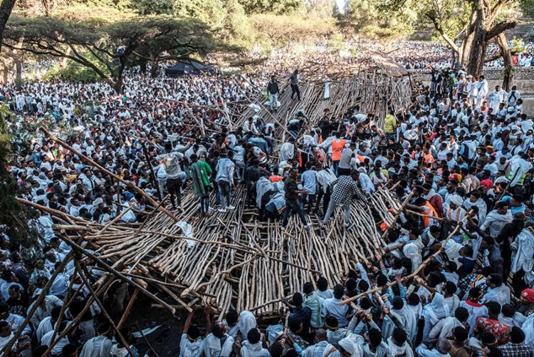 Acidente ocorreu durante a festa da Epifania ortodoxa na cidade de Gondar | Foto: Eduardo Soteras | AFP - Foto: Eduardo Soteras | AFP