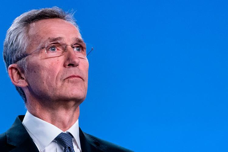 Stoltenberg fez a declaração após concluir uma reunião de embaixadores | Foto: Kenzo Tribouillard | AFP - Foto: Kenzo Tribouillard | AFP