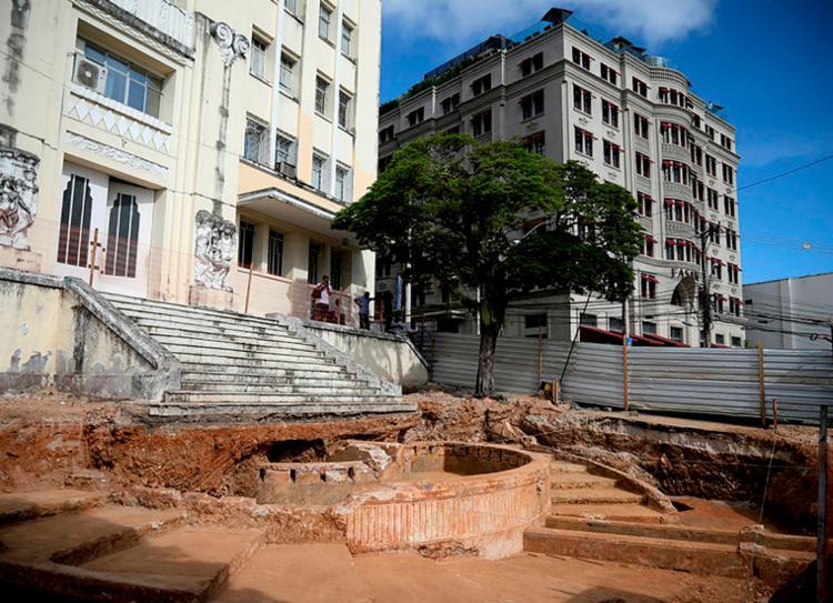 Estrutura foi descoberta durante uma escavação no ano passado | Foto: Felipe Iruatã | Ag. A TARDE - Foto: Felipe Iruatã | Ag. A TARDE