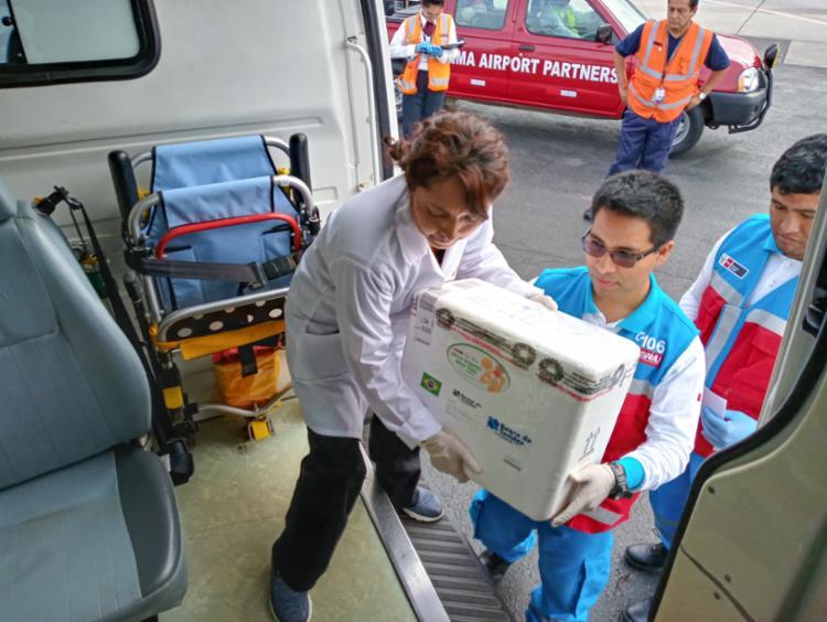 Material vai ajudar vítimas de acidente com caminhão de gás| Foto: Divulgação | Ministerio de Salud del Perú - Foto: Divulgação | Ministerio de Salud del Perú