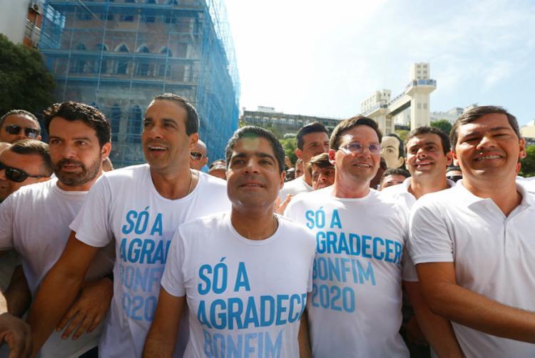 Neto mostrou união da base em torno de Bruno Reis | Foto: Rafael Martins | Ag. A TARDE - Foto: Rafael Martins | Ag. A TARDE