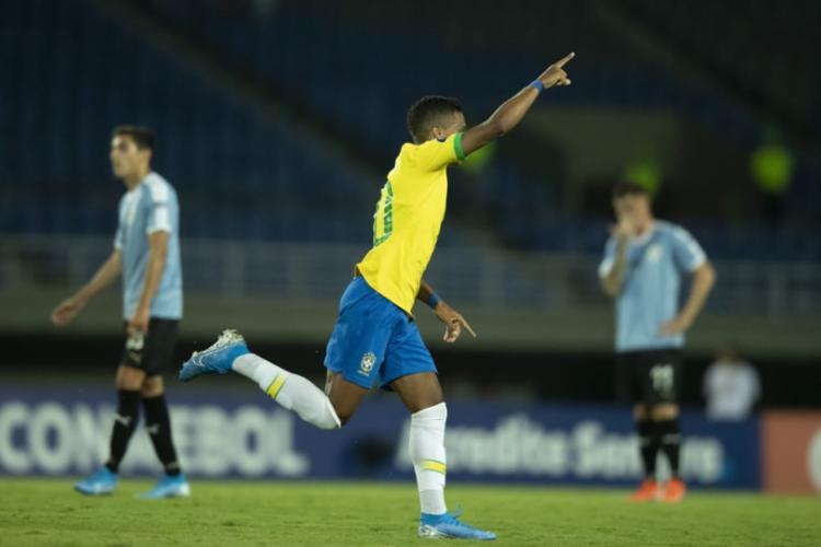 Pedrinho abriu o placar do jogo na vitória de 3 a 1 | Foto: Lucas Figueiredo | CBF - Foto: Lucas Figueiredo | CBF