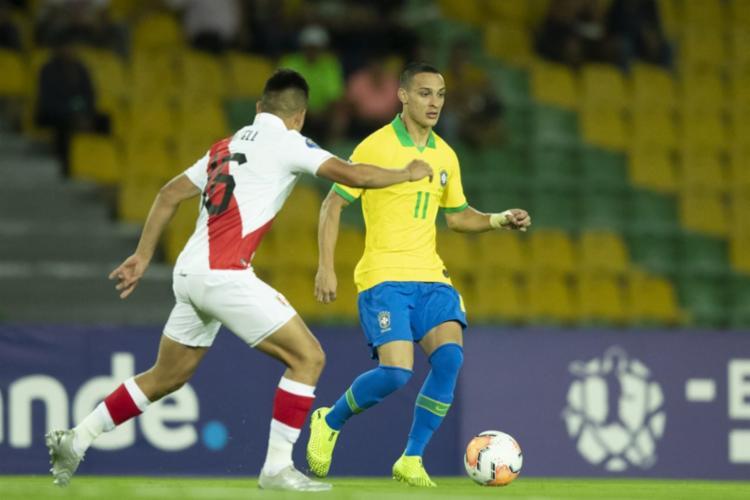 Brasil derrotou o Peru por 1 a 0 pela primeira rodada do grupo B | Foto: Lucas Figueiredo | CBF - Foto: Lucas Figueiredo | CBF