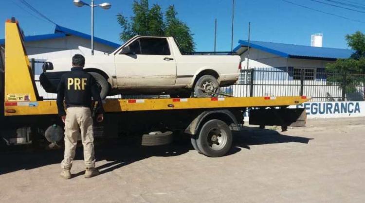 O carro foi roubado em fevereiro de 2018, no município de Jussiape | Foto: Divulgação | PRF - Foto: Divulgação | PRF