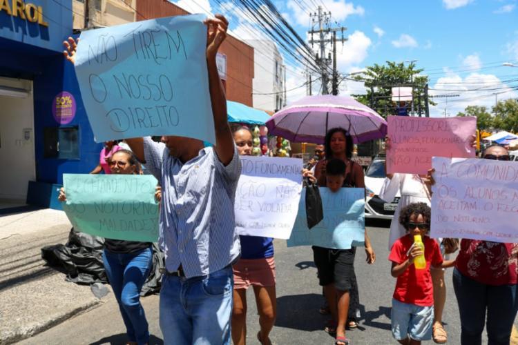 Equipes da PM acompanharam a manifestação | Foto: Patrick Ribeiro | Fala Cajazeiras - Foto: Patrick Ribeiro | Fala Cajazeiras