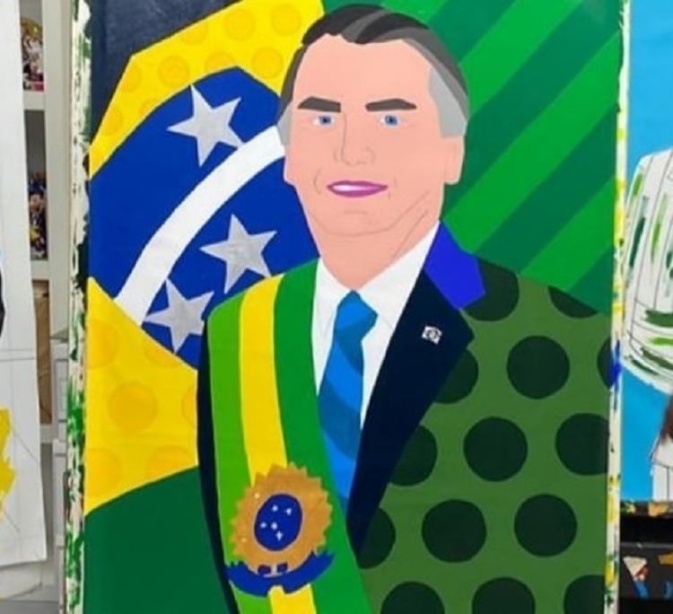 Obra foi divulgada pelo senador Flávio Bolsonaro | Foto: Reprodução | Instagram - Foto: Reprodução | Instagram
