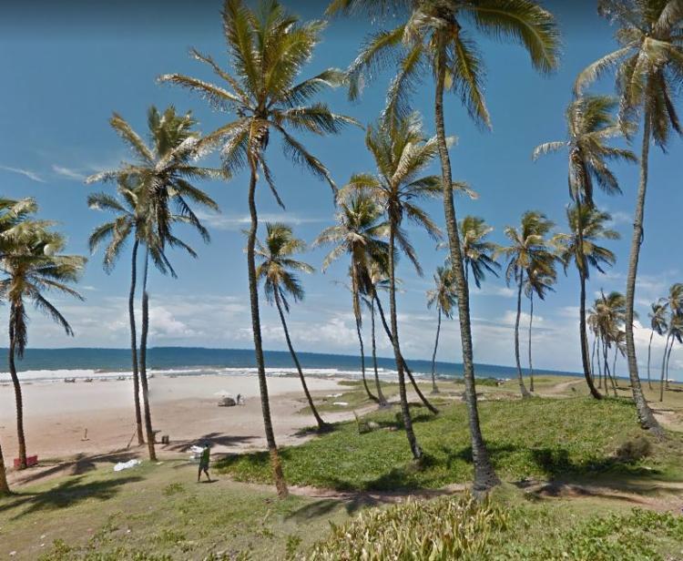 Praia localizada em Armação é uma das praias impróprias | Foto: Reprodução | Google Maps - Foto: Reprodução | Google Maps
