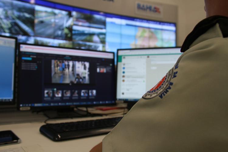 Foragido passava por um dos pontos monitorados, quando foi identificado | Foto: Divulgação | SSP-BA - Foto: Divulgação | SSP-BA