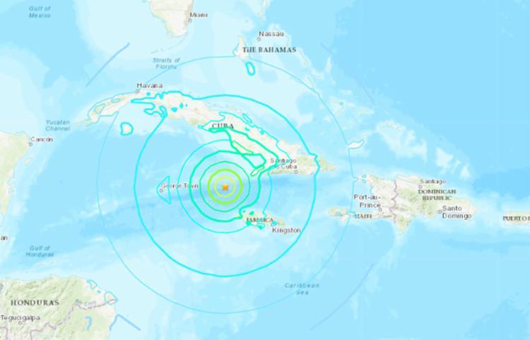 Terremoto foi registrado a 10 km de profundidade às 19H10 GMT (16h10 de Brasília) | Foto: Reprodução | USGS - Foto: Reprodução | USGS