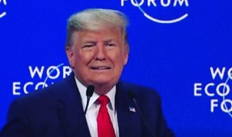 Ao longo do pronunciamento, Trump enumerou feitos, sobretudo a recuperação do mercado de trabalho americano   Foto: Reprodução   Instagram - Foto: Reprodução   Instagram