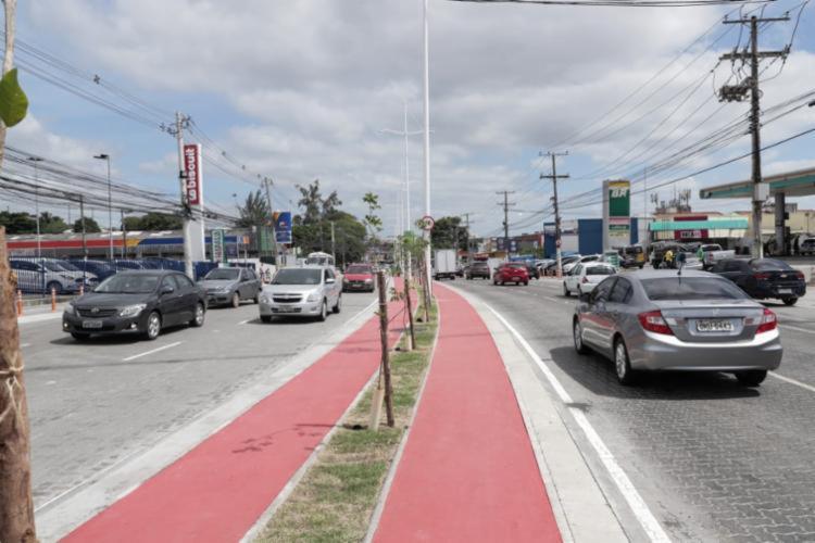 Um dos pontos de alagamento está localizado na Avenida São Cristóvão | Foto: Uendel Galter - Foto: Uendel Galter