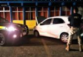 Adolescente é flagrado com carro roubado na BR-324 | Foto: Divulgação | PRF