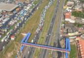 Atropelamento deixa trânsito lento na rodovia Cia Aeroporto | Foto: Cláudia Meneses | Isso é Bahia
