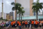 Petroleiros protestam na Pituba e consideram arbitrária decisão do TST | Foto: CSP Conlutas | Divulgação